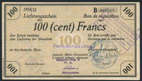 R.419a 100 Francs 1914/15 Deichmann-Bon (1)