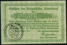 50 Mark 1919 Gutschein Kriegsschiff Hindenburg (1)