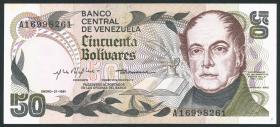 Venezuela P.58 50 Bolivares 1981 (1-)