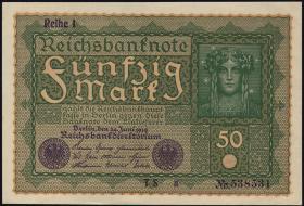 """R.062a: 50 Mark 1919 """"Reihe 1"""" (1)"""