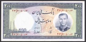 Iran P.070 200 Rials (1958) (2)