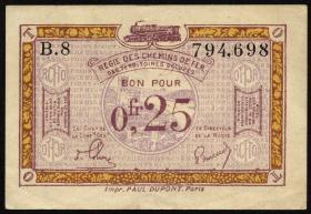 R.857a: Rheinland 0,25 Franc (1923) (2)