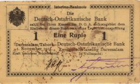 R.916v: Deutsch-Ostafrika 1 Rupie 1915 F (1-)