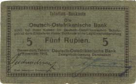 R.921a: Deutsch-Ostafrika 5 Rupien 1915 D (3-)