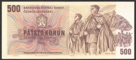 Tschechoslowakei / Czechoslovakia P.93 500 Kronen 1973 (2)