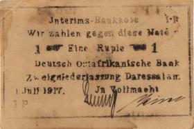 R.936f: Deutsch-Ostafrika 1 Rupie 1917 IP (2)