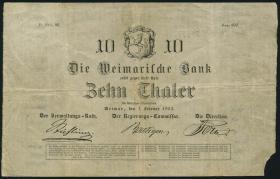 A-462 Sachsen - Weimar - Eisenach 10 Thaler 1854 (3-)