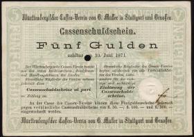 A-535 5 Gulden 1870 entwertet (1-)
