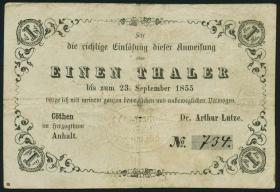 A-547 Anhalt - Coethen 1 Thaler 1854 (4)