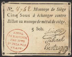 A-594 Preußen 5 Sols 1793 (3-)