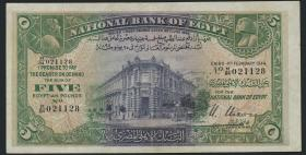 Ägypten / Egypt P.19c 5 Pounds 1944 (3+)