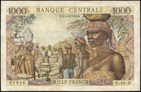 Äquat.-Afrikan.-Staaten P.5h 1000 Francs (1963) (3-)