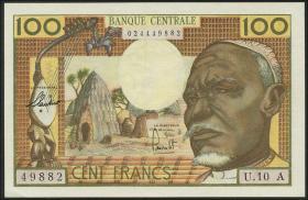 Äquat.-Afrikan.-Staaten P.03a 100 Francs (1963) (2+) Tschad