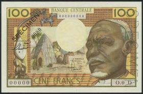 Gabun / Gabon P.03ds 100 Francs (1963) Specimen (1)
