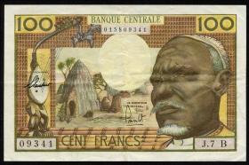 Äquat.-Afrikan.-Staaten P.03b 100 Francs (1963) B (3+)