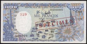 Äquatorial-Guinea P.21s 1000 Francs 1985 (1) Specimen