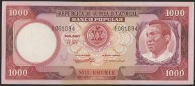 Äquatorial-Guinea P.08 1000 Ekuele 1975 (1)