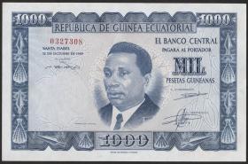 Äquatorial-Guinea P.03 1000 Pts.Guineanas 1969 (1)