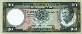 Äquatorial-Guinea P.06 100 Ekuele 1975 (1-)