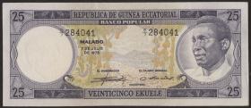 Äquatorial-Guinea P.04 25 Ekuele 1975 (1-)