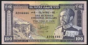 Äthiopien / Ethiopia P.29 100 Dollars (1966) (2)