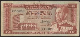 Äthiopien / Ethiopia P.27 10 Dollars (1966) (3)