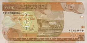 Äthiopien / Ethiopia P.49a 50 Birr 1997 (1)