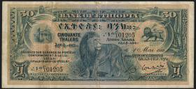 Äthiopien / Ethiopia P.09 50 Thalers 1932 (3)