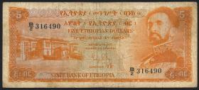 Äthiopien / Ethiopia P.19 5 Dollars (1961) (4)