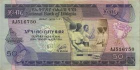 Äthiopien / Ethiopia P.33b 50 Birr (1976) (3)