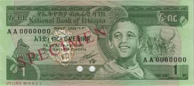 Äthiopien / Ethiopia P.41s 1 Birr (1991) Specimen (1)