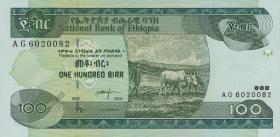 Äthiopien / Ethiopia P.50b 100 Birr 2000 (1)