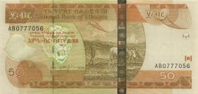 Äthiopien / Ethiopia P.51a 50 Birr 2003 (1)