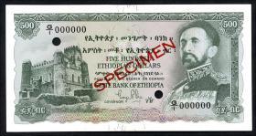 Äthiopien / Ethiopia P.24s 500 Dollars (1961) Specimen (1)