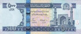 Afghanistan P.76a 500 Afghanis 2008 (1)
