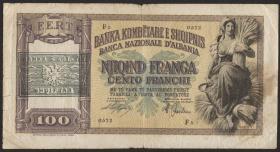 Albanien / Albania P.14 100 Franga  (1945) (4)