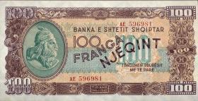 Albanien / Albania P.17 100 Franga 1945 (1)