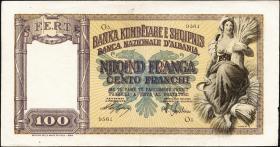 Albanien / Albania P.08 100 Franga (1940) (3+)