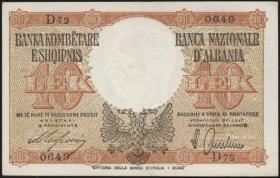 Albanien / Albania P.11 10 Lek (1940) (1)