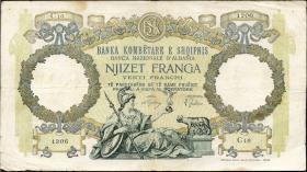 Albanien / Albania P.07 20 Franga (1939) (4)