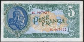 Albanien / Albania P.15 5 Franga 1945 (2+)