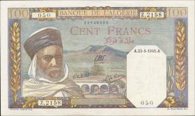 Algerien / Algeria P.088 100 Francs 1945 (1)