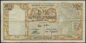 Algerien / Algeria P.119a 10 neue Francs 1961 (3-)