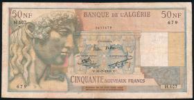 Algerien / Algeria P.120a 50 Neue Francs 31.07.1959 (3-)