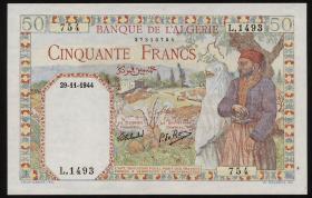Algerien / Algeria P.087 50 Francs 1942 (2)