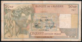 Algerien / Algeria P.120a 50 Neue Francs 18.12.1959 (3-)