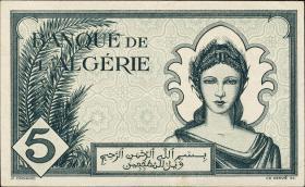 Algerien / Algeria P.091 5 Francs 1942 (1)