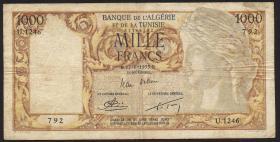 Algerien / Algeria P.107b 1000 Francs 1953 (4)