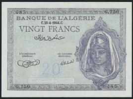 Algerien / Algeria P.092a 20 Francs 1944 (1)
