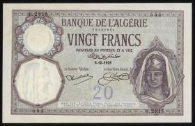 Algerien / Algeria 20 Francs 1928 (1)